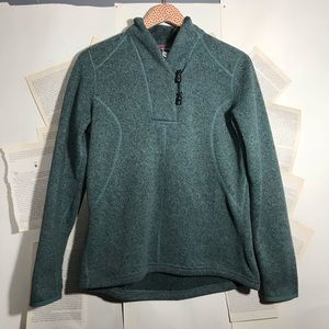 the north face | teal blue sweater half button